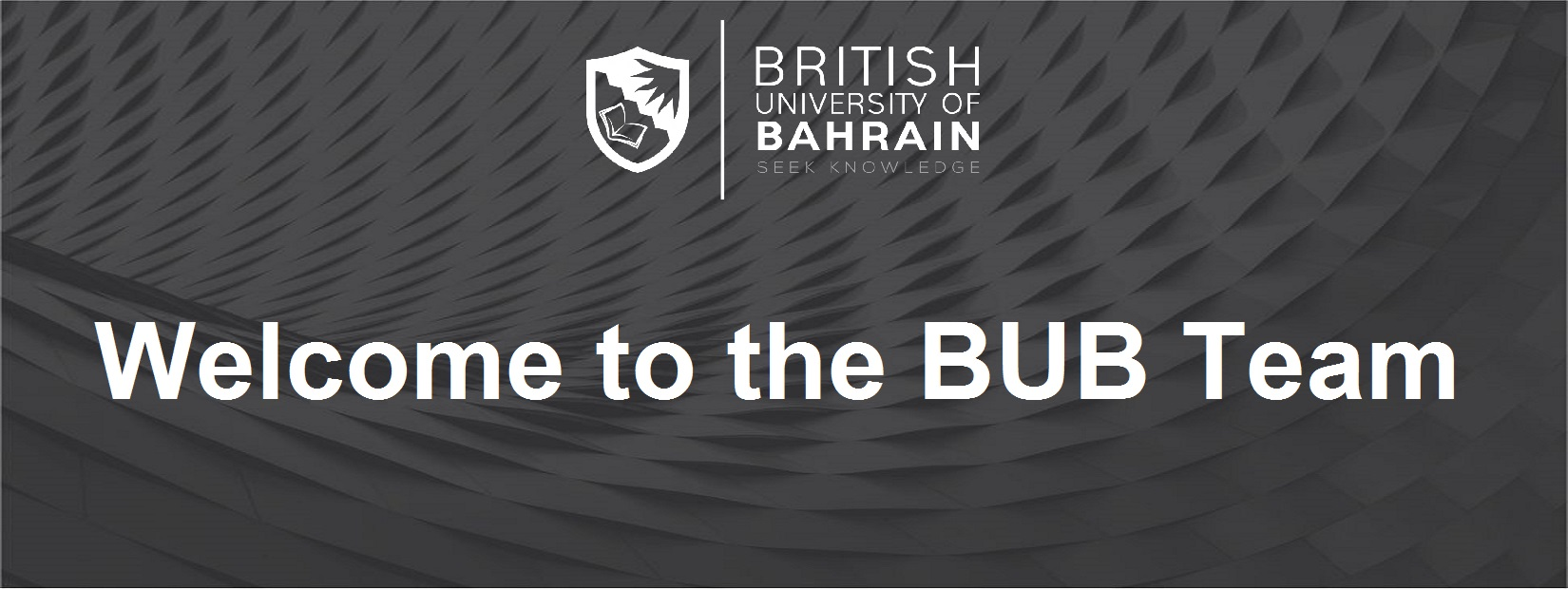 The British University of Bahrain is proud to recruit our latest member of staff into the BUB team. BUB employs highly qualified and educated members of staff to deliver the best UK education, available to study in Bahrain.