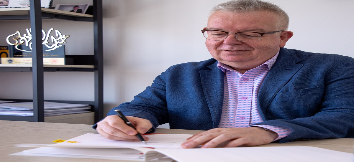 The British University of Bahrain is proud to announce that BUB Vice-President Prof. Keith Sharp has now signed a Memorandum of Understanding with the Al-Mabarrah Al-Khalifia Foundation, due to COVID-19 restrictions, in a virtual signing ceremony.